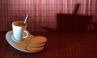 Still life portrait of a cafe with cookies photo