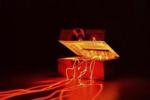 Mystery light box present photo