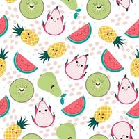 Cutie fruity colorful seamless pattern vector