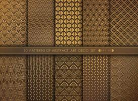 Abstract old modern style antique art deco pattern set. illustration vector eps 10