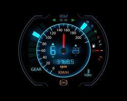 Car speedometer design technology illustration concept vector