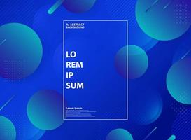 Abstract blue fluid landing page decoration background. illustration vector eps10