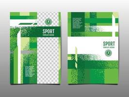 Sport Design Layout template Design green Sport Background vector