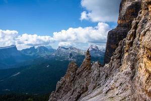 Peaks of the Cortina D'ampezzo Dolomites photo