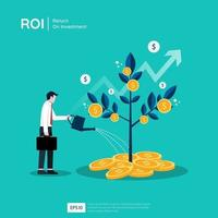 Plant money tree illustration for investment concept vector