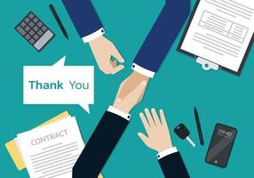 Businessman Hands signing on the contract form document vector