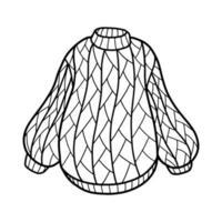 suéter de punto de invierno. ilustración vectorial vector