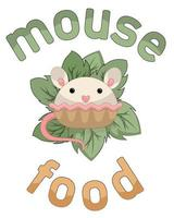 Vector image of dessert food in the form of a mouse