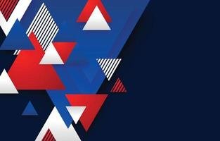 Abstract Triangle Background Concept in Red Blue and White Color Combination vector
