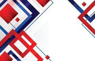 Red Blue White Rectangle Abstract Background vector