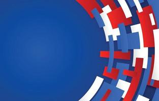 Red Blue White Abstract Background vector