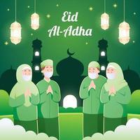 Gathering with Protocol at Eid Al Adha vector