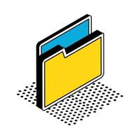 Isolated file isometric style icon vector design