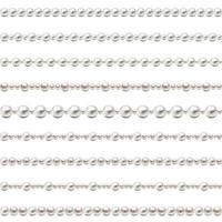 Seamless pearl beads Pearl Beads Set Vector