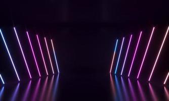 formas abstractas de neón holograma forma de tira de led foto
