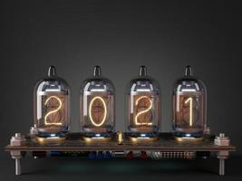 Tube processor calendar and date 2021 new year photo