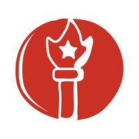 new york liberty statue torch block style icon vector
