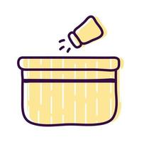 salt shaker over bowl line and fill style icon vector design