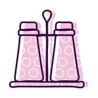 salt and pepper shaker line and fill style icon vector design