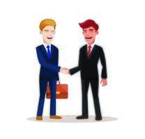 gente de negocios en el trabajo. Ilustración de vector de personaje - proceso de trabajo, reunión para el éxito del trabajo.