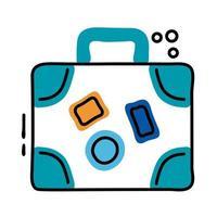 maleta viaje línea e icono de estilo de relleno vector