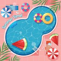 Swimming Pool Summer Background vector