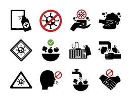 paquete de covid19 set iconos vector
