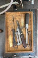 box of tools in a traditional print shop photo