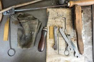 specialized tools in a traditional print shop photo