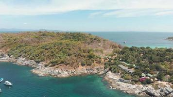 Aerial view of Koh Racha Yai island. Diving and snorkelling paradise in Thailand video