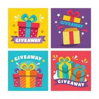 Free Giveaway Cards vector