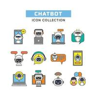 Set of Chat Bot Icons vector