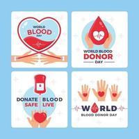 salvar vidas preciosas donando sangre hoy vector