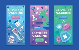 Vaccines for Covid19 Banners vector