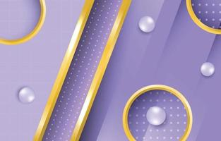 Lilac Background with Gold Element vector