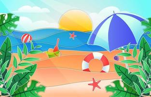 Summer Scenery Cut Out vector
