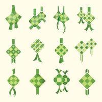 Variation of Ketupat Icon Set vector