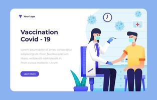 Vaccination Activism General Service Landing Page vector