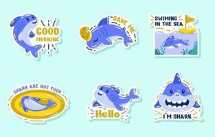 Save Shark Activism Sticker vector