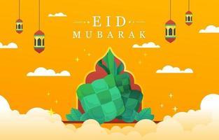 Eid Mubarak Islamic Big Day vector