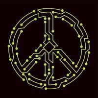 esquema eléctrico del símbolo pacifista vector