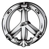 símbolo pacifista decorativo vector