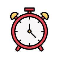 icono de reloj despertador vector