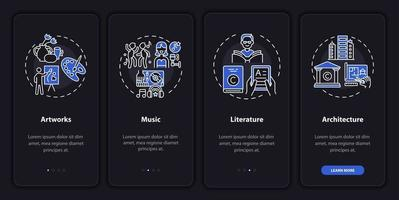 Copyright things onboarding mobile app page screen with concepts vector