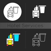 Cleaning service dark theme icon vector