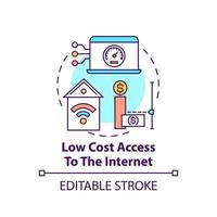 Low cost access to internet concept icon vector
