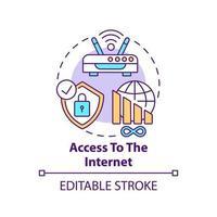 Access to internet concept icon vector