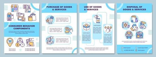 Consumer behavior components brochure template vector