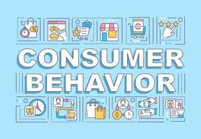 Consumer behavior word concepts banner vector