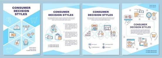 Consumer decision styles brochure template vector